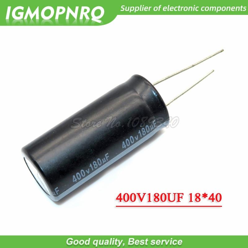 5 шт., электролитический конденсатор 400 В, 180 мкФ, 18x40, в, мкФ