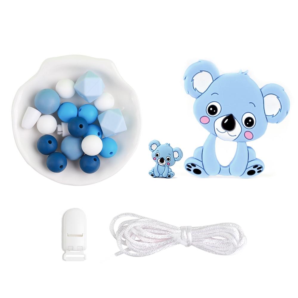 Детский силиконовый Прорезыватель для зубов с бусинами, мультяшный силиконовый Прорезыватель для зубов, соска-пустышка, пищевая цепочка