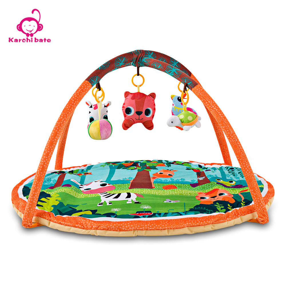 Baby Play Mat 90*90*50cm Infantil Kids Rug Playmat Baby Gym Fitness Frame Activity Mat Toys Early Education Crawling Game Mat