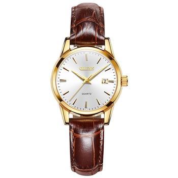 OLEVS Top Brand Quartz Women Watches Waterproof Leather Strap Fashion Women Watch Date Clock 8