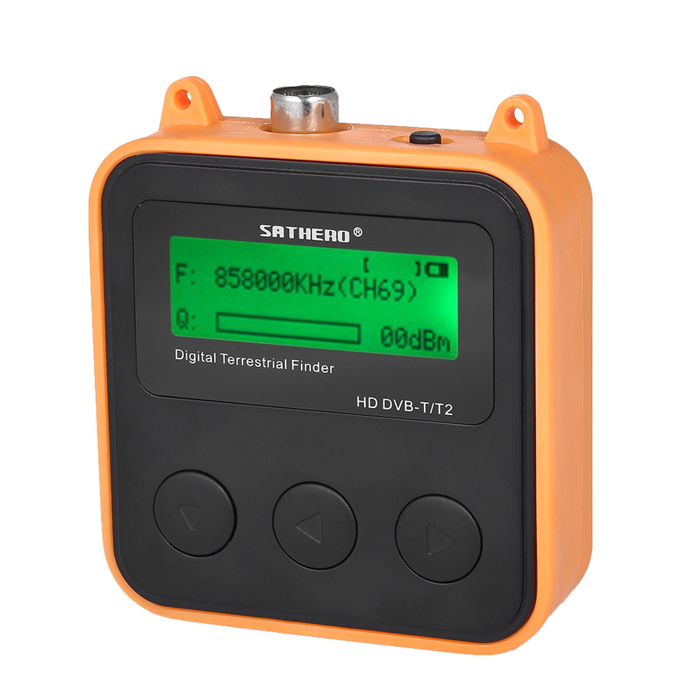 SATHERO SH-110HD détecteur de Signal terrestre compteur récepteur TV DVB-T DVB-T2 HD récepteur de détecteur de Signal de télévision numérique affichage LCD
