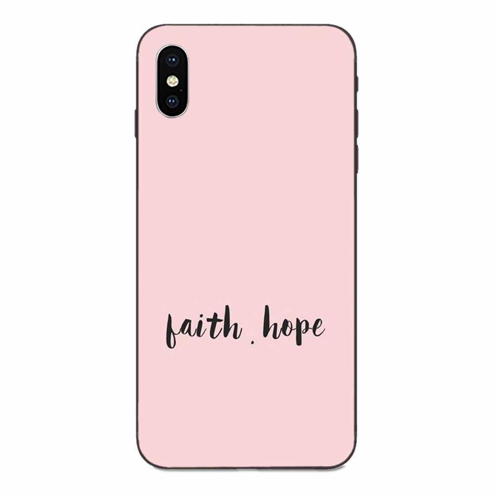 Wiara nadzieja miłość miękki telefon czarny dla Huawei Honor ciesz się Mate uwaga 6s 8 9 10 20 P20 P30 Lite Play Pro P smart
