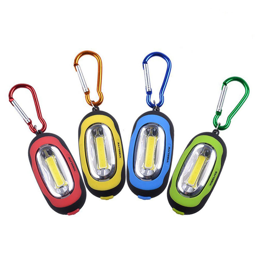 Mini Portable COB LED Keychain Flashlight 3 Modes Waterproof Keyring Night Light Handy Torch Lamp Hunting Camping Pocket Lamp