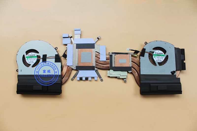 New CPU Cooler Fan/Heatsink For DELL Alienware 17 R5 P31E/GTX1080 MG75090V1-C060-S9A MG75090V1-C070-S9A Radiator