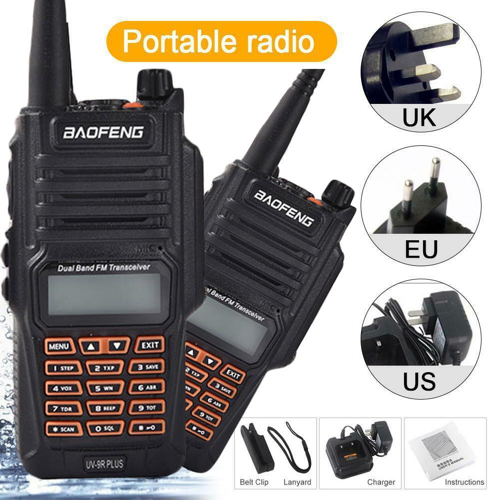 Baofeng UV9R Plus 8W High Power IP67 Waterproof Two Way Radio Dual Band Handheld Walkie Talkie Upgraded Version Of UV9R EU/US/UK