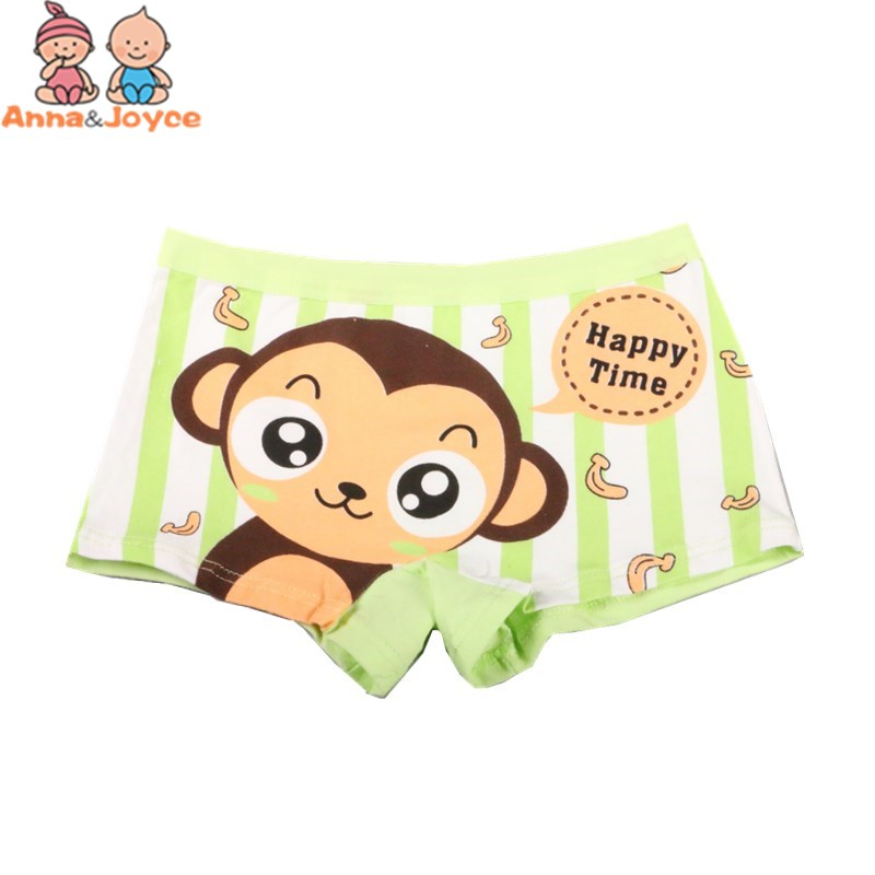 2pcs/lot Boys Boxer Underwear/ Cartoon Children's Pants/ Cotton Boys' Underwear Suit 2-10 Years 4