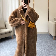 Новое поступление, Женское зимнее пальто из искусственной шерсти, Толстая теплая верхняя одежда из искусственного меха, XHSD-438