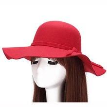 Ретро осенние шляпы с бантиком для женщин и девочек мягкие винтажные