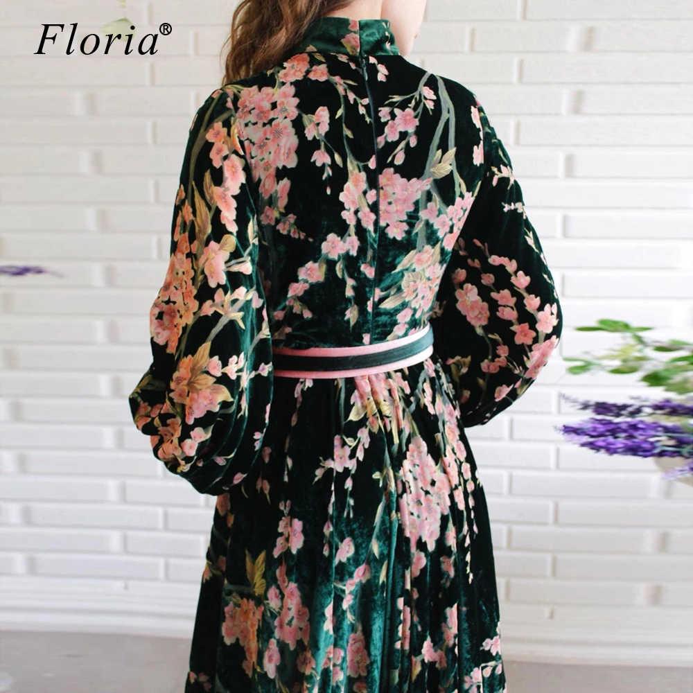 2020 빈티지 꽃 패턴 연예인 드레스 긴 kaftan 양재 공식 개회식 드레스 패션 사진 가운 맞춤