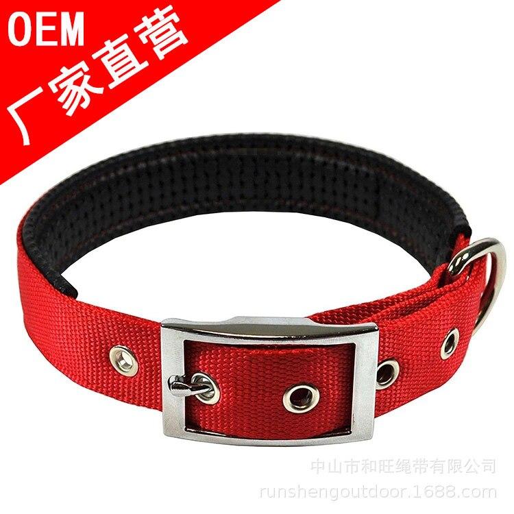 Dog Supplies Hot Selling Pet Dog Collar Customizable Logo Nylon Thick Pad Joint Pet Training Neck Ring