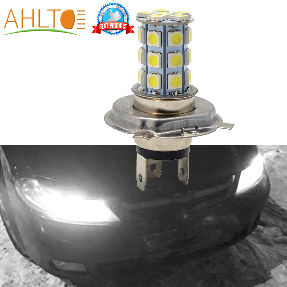 5050 27Led H4 Headlight Auto Fog Light Car Led Bright White Lamp 6500K 12V Moto Motorcycle Bright HeadLamp Parking Driving Bulb