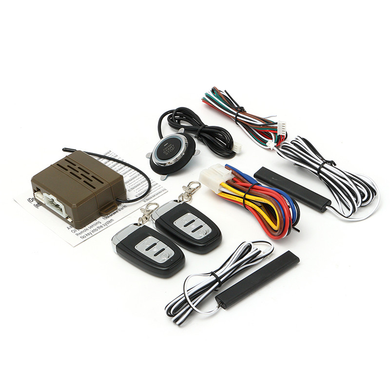 Car Universal Engine Start Alarm Stop Start SUV Keyless Entry Engine System Push Button Remote Starter Stop Auto Car Accessories