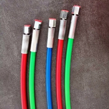 Tubo de óleo macio de alta pressão da tubulação 2800bar vermelho 600mm para a pressão de ruptura 7000bar comum do banco do teste do trilho