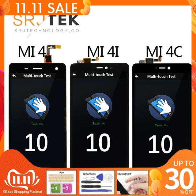 """5.0"""" Original Display For XIAOMI Mi4 LCD Touch Screen with Frame for Xiaomi Mi4C LCD Display Mi 4 4C 4i Mi4i LCD Replacement"""