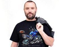 Motorrad T-Shirt Mit HON. Motorrad TRANSALP Neue Sommer T Shirts Männer 100% Baumwolle Cool Tees harajuku