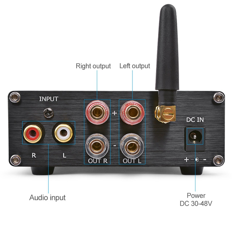 potência cl d amplificador com bluetooth v4.2