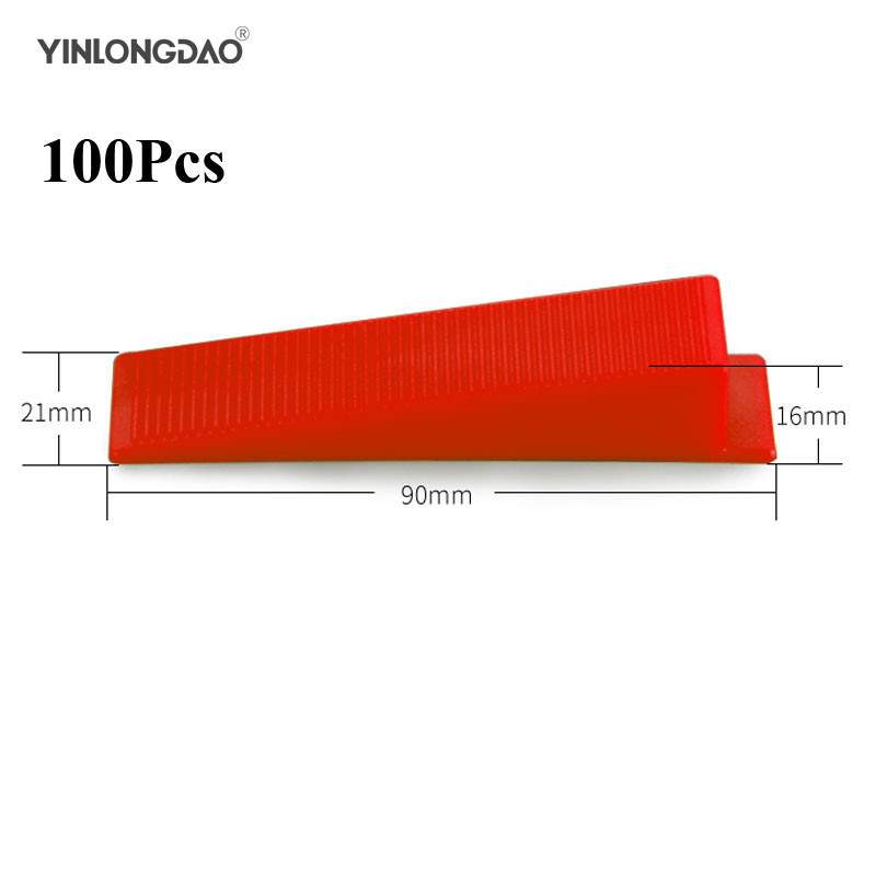 New 100pcs/lot Level Wedges Tile Spacers For Tiling Tools Flooring Wall Tile Carrelage Leveling System Leveler Locator