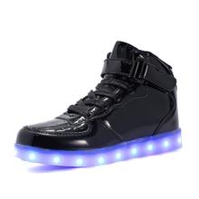 Black Shoes USB Charging Kids Size Boy Girl LED Light Up Glowing Sneakers Luminous Dancing Sneakers Women Footwear цена в Москве и Питере