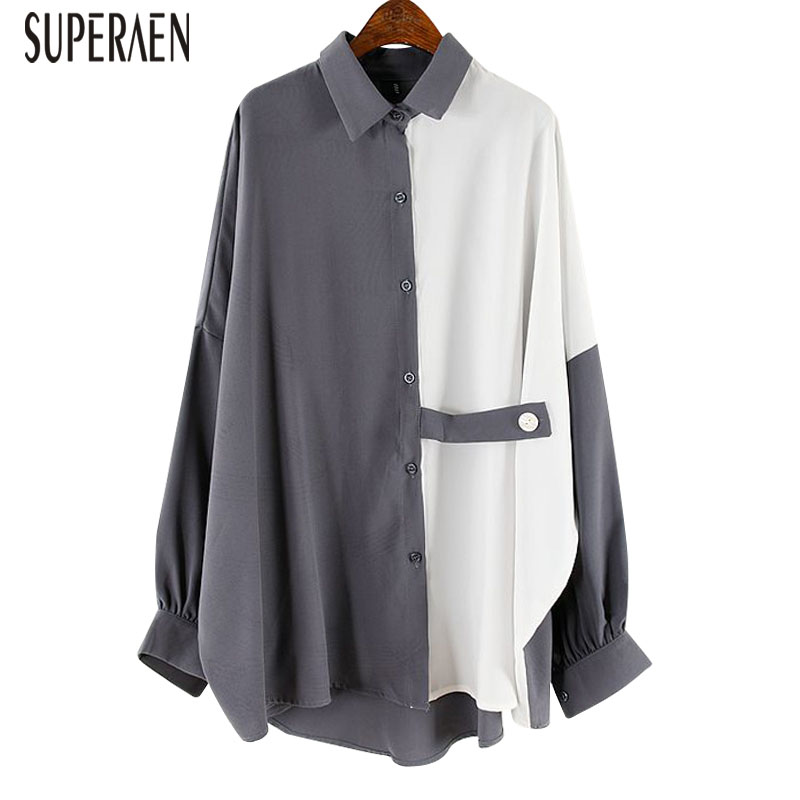 SuperAen Fashion Women Shirt Wild Casual Long-sleeved Blouses And Tops Female 2019 New Autumn Korean Style Women Clothing