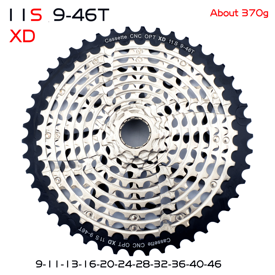 SHIMANOM9100 <font><b>11</b></font> speed ultralight bicycle freewheel CNC hollowing process 9-<font><b>46T</b></font> sprocket uses SRAM XD structure cassete sunrace 9 image