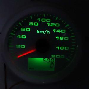 Image 2 - Compteur de vitesse GPS numérique, compteur de vitesse, 85mm, 120 km/h 200 km/h, étanche 7 couleurs, rétro éclairé 12V 24V