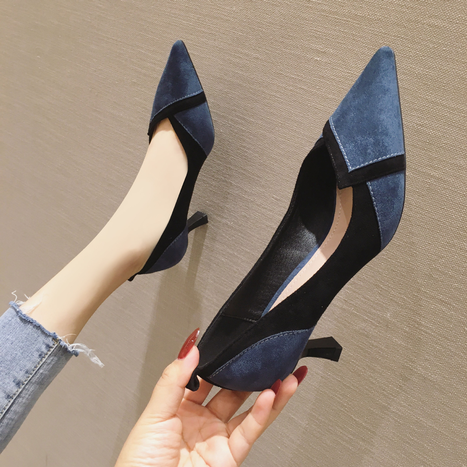 Office Lady high heels shoes woman luxury shoes women 2020 New Fashion Red bottom high heels High quality High heels women shoes