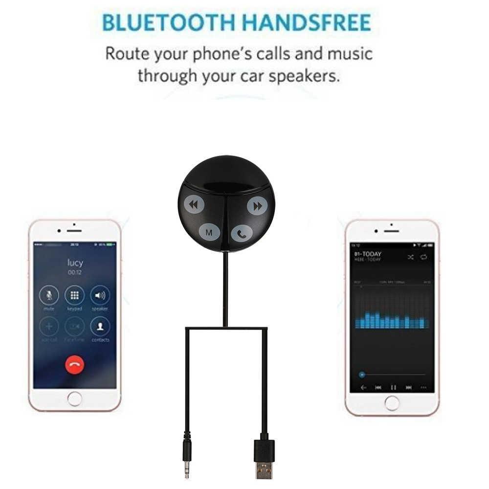 Omeshin רכב אלחוטי Bluetooth דיבורית לרכב משדר FM MP3 נגן USB הכפול מטען FM מודולטור רכב אביזרי אודיו