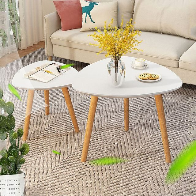 Wooden Triangle  Coffee Table  4