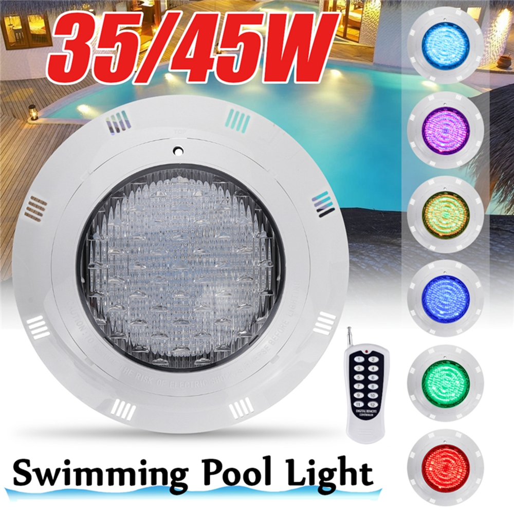 35W 45W LED Underwater Swimming Pool Lights RGB Color Changing AC12V/DC12-24V IP68 Waterproof Lamp With Remote Controller