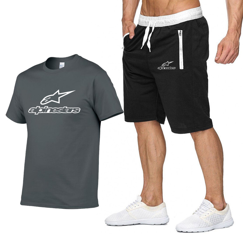 Summer Men Set Sportswear Fashion 2020 Mens Clothing Brand T Shirts Shorts Casual Tracksuits Male Track Suit Plus Size 3XL