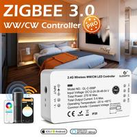 GLEDOPTO Zigbee 3,0 Smart Pro WW/CW Controller Warm Cold White Licht Arbeit mit SmartThings APP Alexa Echo Plus 2,4G RF Remote