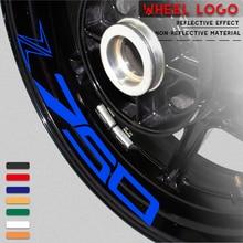 New Motorcycle tire sticker reflective belt bike decal decoration cool waterproof logo for KAWASAKI Z750 z 750