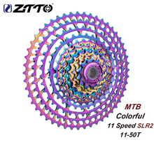 цены ZTTO MTB 11S 11-50T SLR2 Cassette Ultralight Colorful Freewheel 11V 11 Speed K7 mountain Bicycle HG System FOR GX X1 NX M8000