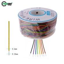 250m 30AWG avvolgimento filo stagnato rame B-30-1000 PCB cavo tagliere ponticello isolamento elettronico conduttore connettore filo