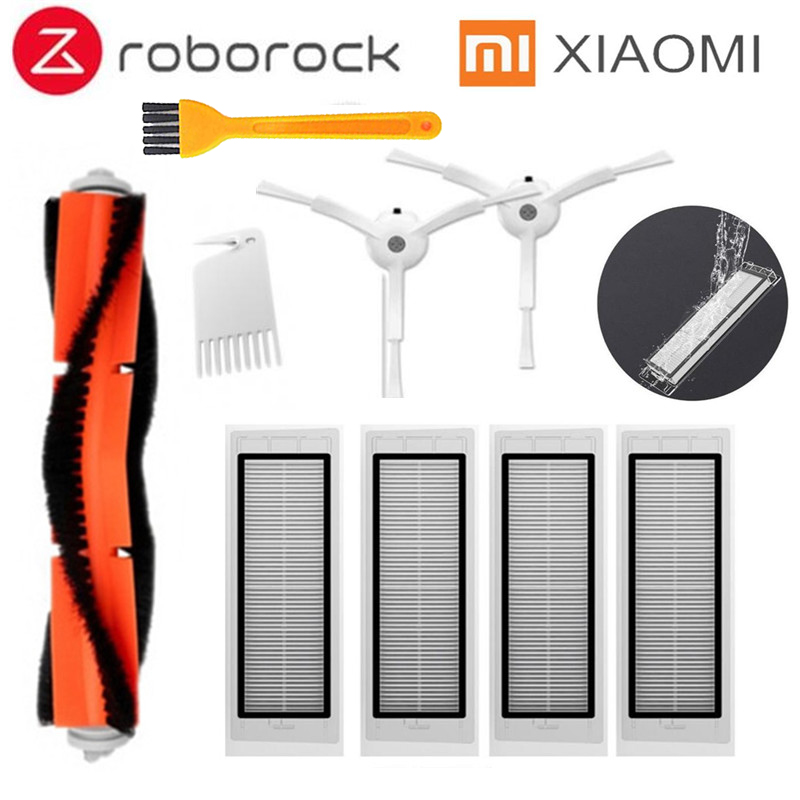 Main Brush Filters Side Brush Filter Cores Part For Xiaomi Mi Roborock S50 S51