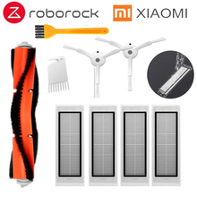 2 * side brush + 4* HEPA filter +1* main brush Suitable for xiaomi vacuum 2 roborock s50 S51 S55 xiaomi roborock Xiaomi Mi Robot 4pcs vacuum cleaner hepa filter for xiaomi mijia robot roborock s50 s51 roborock 2 xiaomi roborock xiaomi mijia robot filter