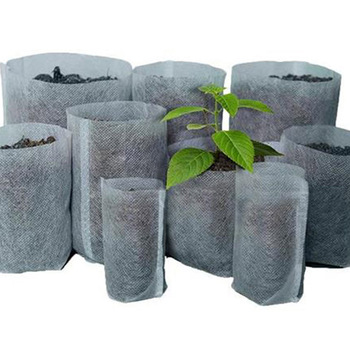 100PCS Different Biodegradable Non-woven Nursery Bags Plant Grow Bags For Fabric Seedling Raising Bag Plants Garden Supply