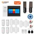 WiFi GSM GPRS Tuya APP Intelligent Home Burglar Alarm System 4.3 Inch Touch Screen Solar Infrared Beam Sensor Optional
