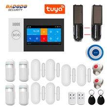 WiFi GSM GPRS Tuya pilot aplikacji inteligentny system alarmowy w domu 4.3 calowy ekran dotykowy czujnik przerwania wiązki światła podczerwonego opcjonalnie