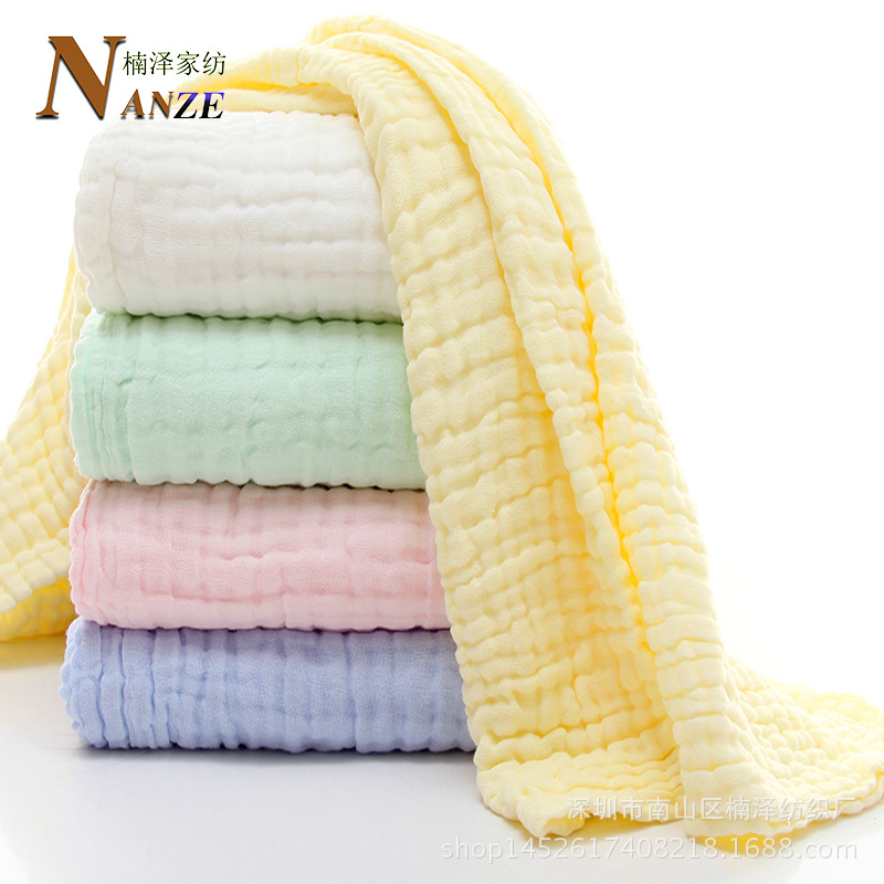 Medical Use 6-Layer Pure Cotton Bubble Gauze Bath Towel Infants Bath BABY'S BLANKET Class A Square Air Conditioner Towel Blanket