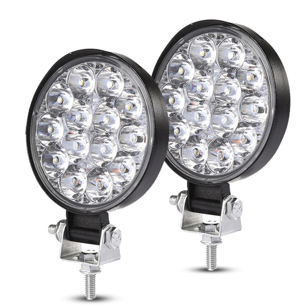 2PCS Led Bar Work Light For Wrangler Modified Lamp 14 Lights 42W LED Lights Super Thin Version LED Work Light Bar 30000 Hours