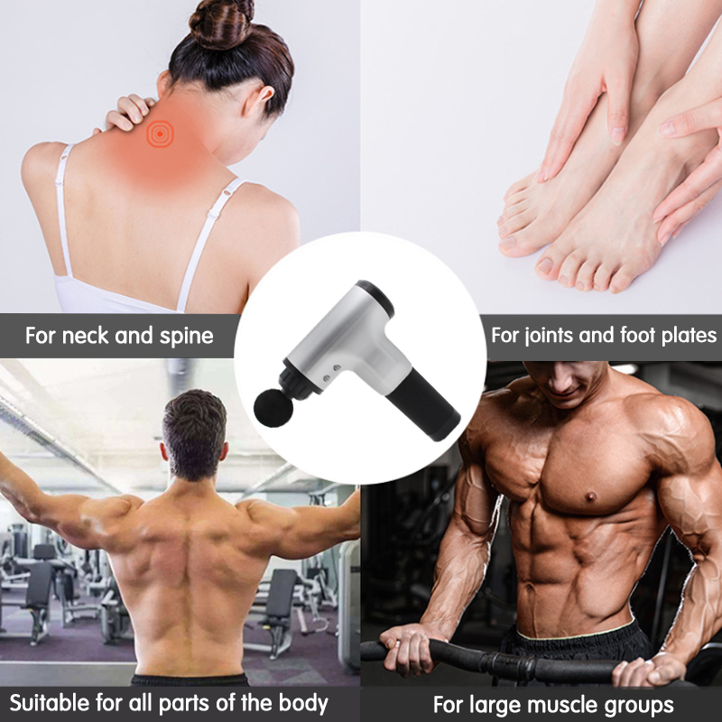 Person - Muscle Massage Gun Electric Body Massager Deep Vibration Pain Relief Shaping Muscle Relaxation Therapy Equipment Gun