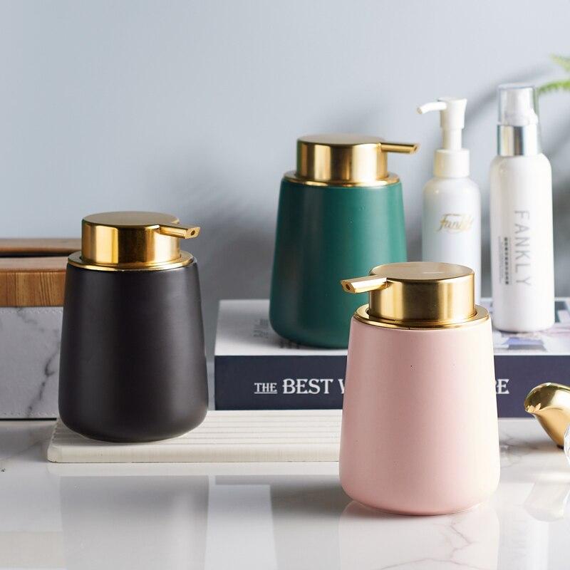Bathroom Accessories Liquid Soap Dispenser Ceramic Latex Bottle Hand Kitchen Sink Soap Container Shampoo Holder Wedding Gift