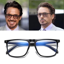 Anti Blue Light Glasses Blocking Filter Reduces Tony Stark Eyewear Strain Clear Gaming Computer Glasses Men Improve Comfort