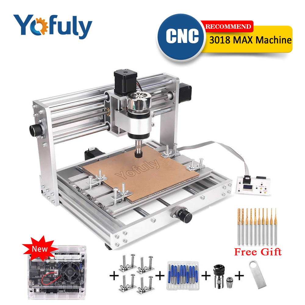 CNC 3018pro MAX Engraver GRBL Control with 200w Spindle,3 Axis PCB Milling machine,15w big power laser DIY Wood RouterWood Routers   -