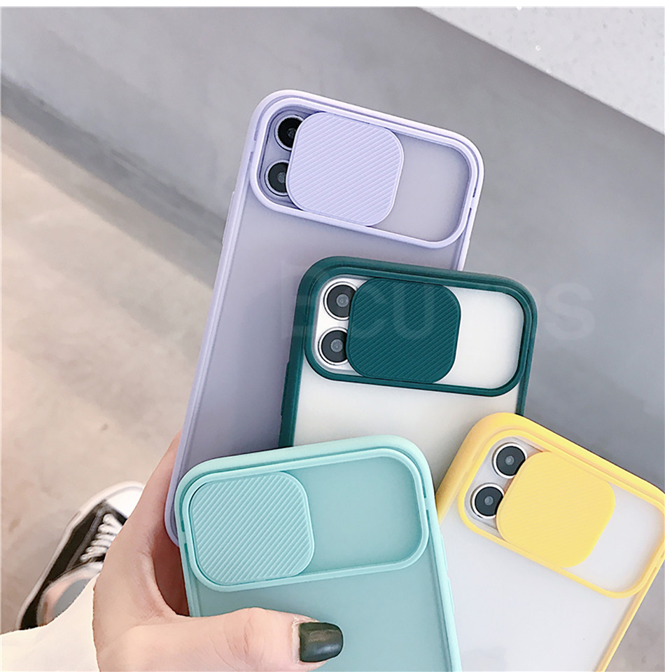 The Armour Camera Lens Protection Phone Case on For iPhone