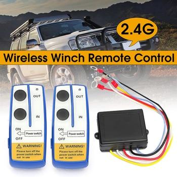 KROAK 12V Auto Drahtlose Winde Elektrische Fernbedienung Mit Manuelle Sender-Set Lkw ATV SUV Lkw Fahrzeug Anhänger Kit