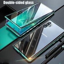 360 kapak manyetik kılıf Samsung Galaxy S20 S10 not 8 9 10 S8 S9 artı S20 Ultra S10E A30 a50 A70 A51 A71 A11 M31 Metal Funda