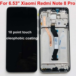 "Image 2 - Original New For 6.53"" Xiaomi Redmi Note 8 Pro LCD Display Screen+Touch Screen Digitizer With Frame For Redmi Note 8 Pro LCD"