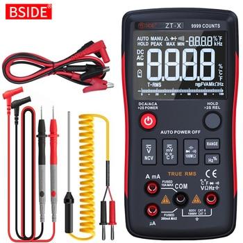BSIDE ZT-X Digital Multimeter 9999 T-RMS Auto Range EBTN LCD DC AC Voltmeter Ammeter Analog Lcr Meter capacitor Ohm NCV Tester - discount item  45% OFF Measurement & Analysis Instruments
